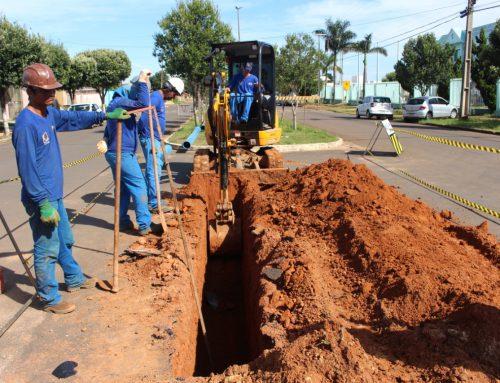 Avenida Tancredo Neves recebe obra de Ampliação e Readequação do Sistema de Abastecimento de Água em Vilhena