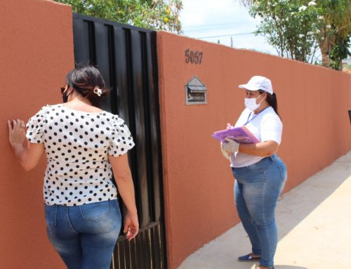 Visitas técnicas domiciliares orientam moradores sobre obras de saneamento básico em Vilhena